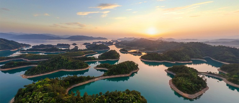 Thousand Island Lake, China - AirPano.com • 360° Aerial Panoramas • 360° Virtual Tours Around the World