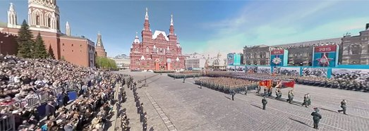 2015 Moscow Victory Day Parade • AirPano.com • 360 Degree Aerial Panorama • 3D Virtual Tours Around the World