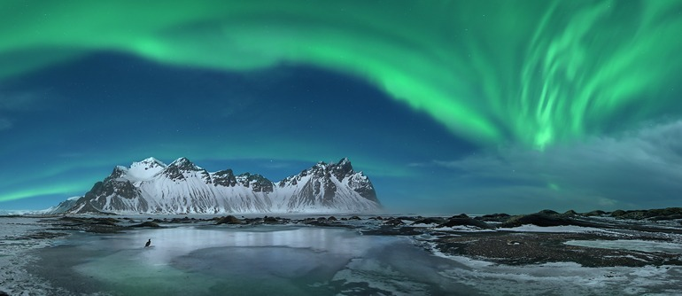 Polar lights in Iceland - AirPano.com • 360° Aerial Panoramas • 360° Virtual Tours Around the World