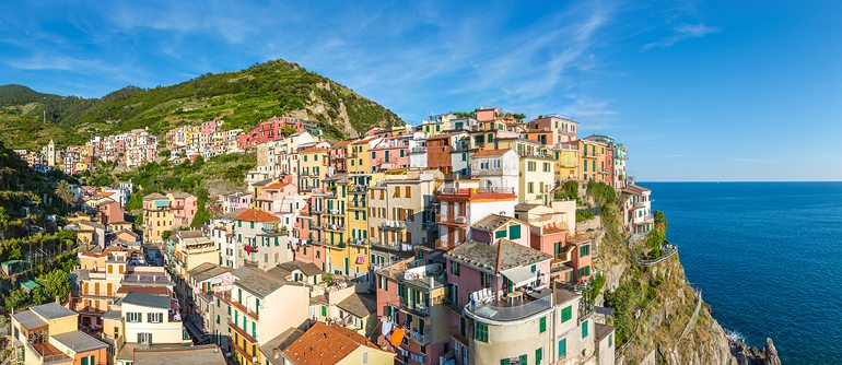Manarola, Cinque Terre, Italy - AirPano.com • 360° Aerial Panoramas • 360° Virtual Tours Around the World