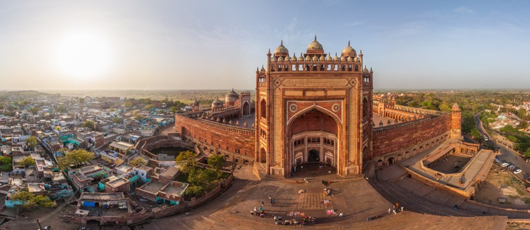 Fatehpur Sikri India  city photos gallery : Fatehpur Sikri, Agra, India AirPano.com • 360° Aerial Panoramas ...