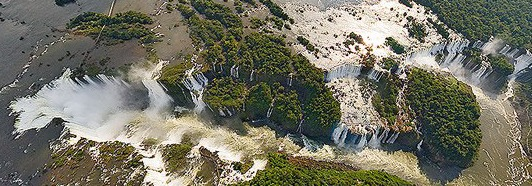 The Iguassu Falls, Argentina-Brazil - AirPano.ru • 360 Degree Aerial Panorama • 3D Virtual Tours Around the World