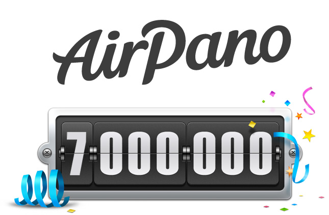 7 000 000 visitors of AirPano.com