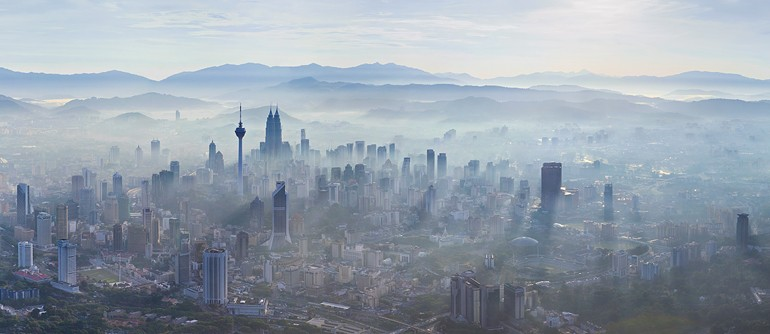 Kuala Lumpur, Malaysia. The Petronas tower - AirPano.com • 360 Degree Aerial Panorama • 3D Virtual Tours Around the World
