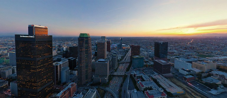 Los Angeles at dusk, CA, USA - AirPano.com • 360° Aerial Panoramas • 3D Virtual Tours Around the World