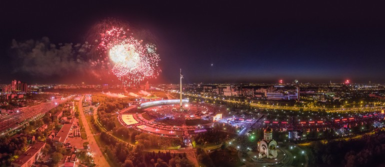 Victory Day celebrations in Moscow 2016 - AirPano.com • 360° Aerial Panoramas • 360° Virtual Tours Around the World