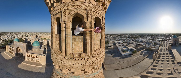 Kalyan Minaret, Bukhara, Uzbekistan - AirPano.com • 360� Aerial Panorama • 3D Virtual Tours Around the World