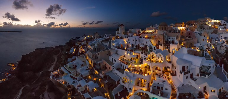 Santorini (Thira), Oia, Greece - AirPano.com • 360° Aerial Panoramas • 360° Virtual Tours Around the World