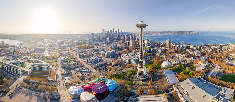 Seattle, USA - AirPano.com • 360° Aerial Panoramas • 360° Virtual Tours Around the World