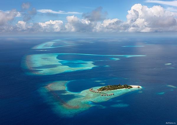Мальдивы с самолета