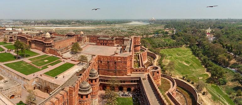 Agra Fort, India - AirPano.com • 360° Aerial Panoramas • 360° Virtual Tours Around the World