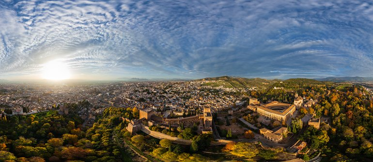 Alhambra, Granada, Spain - AirPano.com • 360° Aerial Panoramas • 360° Virtual Tours Around the World