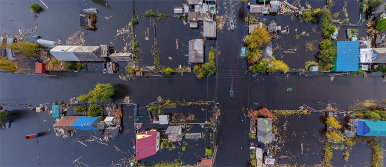 Flooding in Amur River, Russia, 2013 - AirPano.com • 360° Aerial Panoramas • 360° Virtual Tours Around the World