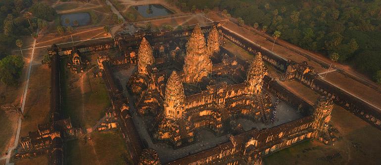 Angkor Wat Cambodia 360 176 Aerial Panoramas 360 176 Virtual
