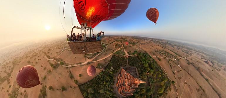 Balloon flight in Bagan, Myanmar - AirPano.com • 360° Aerial Panoramas • 360° Virtual Tours Around the World