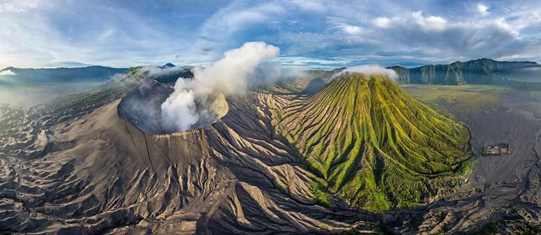 Bromo volcano, Java, Indonesia - AirPano.com • 360° Aerial Panoramas • 360° Virtual Tours Around the World