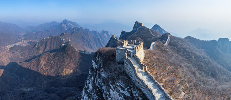 Great Wall of China. Jiankou and Jiaoshan - AirPano.com • 360° Aerial Panoramas • 360° Virtual Tours Around the World