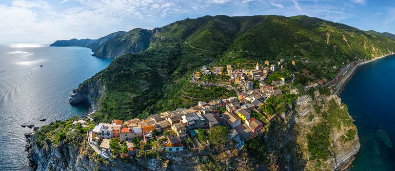 Corniglia, Cinque Terre, Italy - AirPano.com • 360° Aerial Panoramas • 360° Virtual Tours Around the World