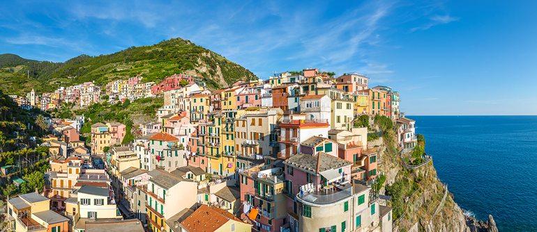 Manarola, Cinque Terre, Italy - AirPano.com • 360° Aerial Panoramas • 360° Virtual Tours Around the World
