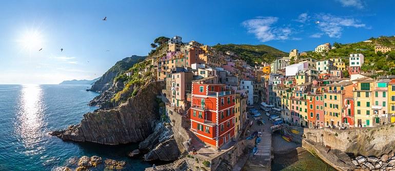 Riomaggiore, Cinque Terre, Italy - AirPano.com • 360° Aerial Panoramas • 360° Virtual Tours Around the World