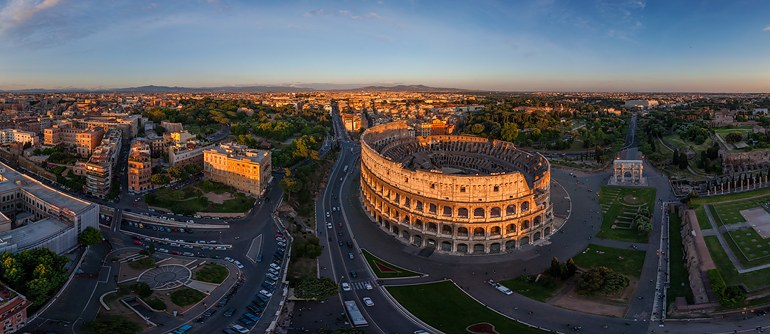 Roman Colosseum, Italy - AirPano.com • 360° Aerial Panoramas • 360° Virtual Tours Around the World