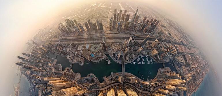 Virtual Tour of Dubai City UAE  360 Aerial Panoramas 360