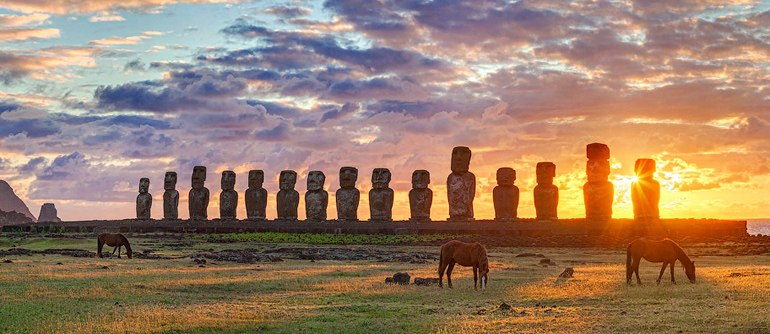Moai Statues, Easter Island, Chile - AirPano.com • 360° Aerial Panoramas • 360° Virtual Tours Around the World