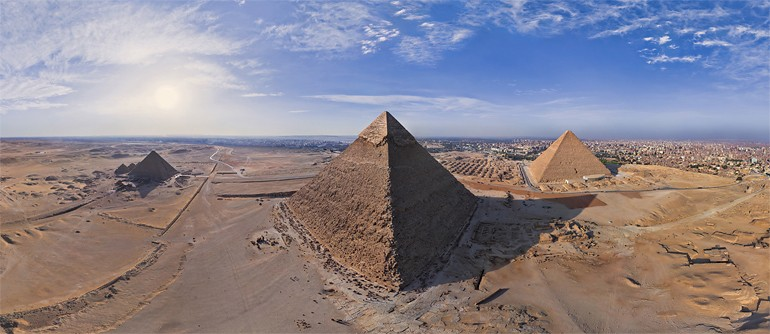 Great Pyramids of Giza in Egypt - AirPano.com • 360° Aerial Panoramas • 360° Virtual Tours Around the World