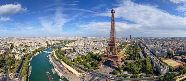 Eiffel Tower, Paris, France - AirPano.com • 360° Aerial Panoramas • 360° Virtual Tours Around the World