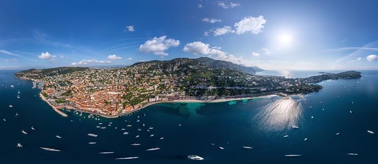 Cote d'Azur. Villefranche-sur-Mer,  Ile d'Or and Saint-Jean-Cap-Ferrat - AirPano.com • 360° Aerial Panoramas • 360° Virtual Tours Around the World
