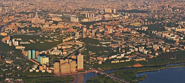 Moscow, Gigapixel Panorama - AirPano.com • 360° Aerial Panoramas • 360° Virtual Tours Around the World