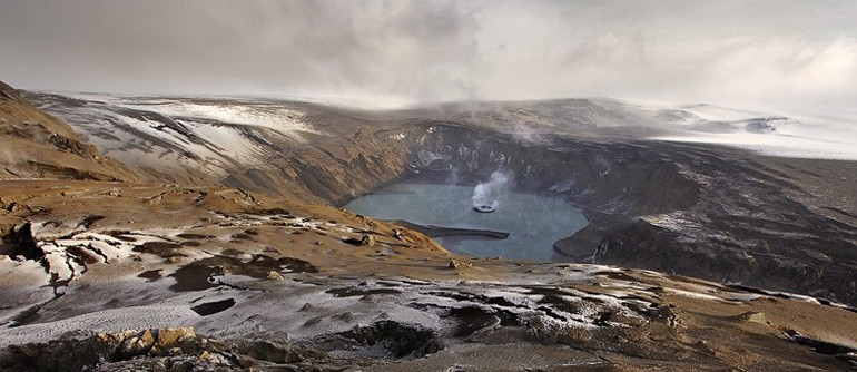 On the edge of the Grimsvotn volcano crater - AirPano.com • 360° Aerial Panoramas • 360° Virtual Tours Around the World