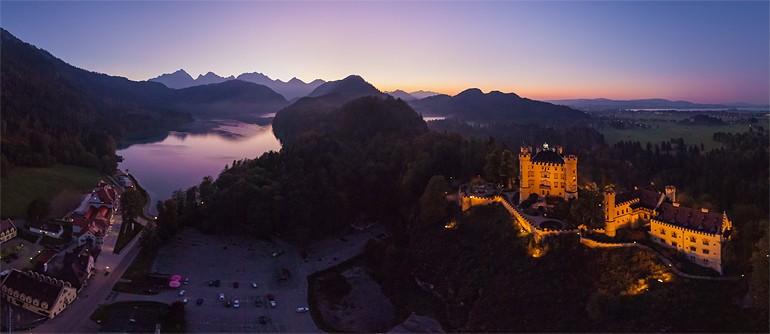 Fussen Town, Neuschwanstein and  Hohenschwangau Castles, Germany - AirPano.com • 360° Aerial Panoramas • 360° Virtual Tours Around the World