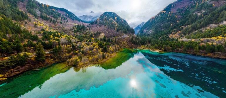 National Park Jiuzhaigou, China - AirPano.com • 360° Aerial Panoramas • 360° Virtual Tours Around the World