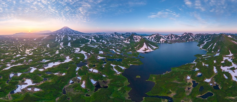 Kambalnoe Lake, Kamchatka, Russia - AirPano.com • 360° Aerial Panoramas • 360° Virtual Tours Around the World