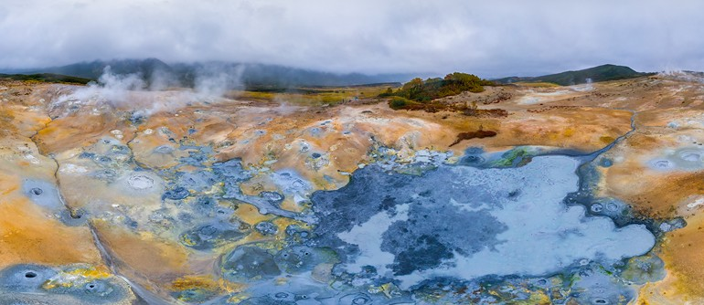 Uzon, Western Thermal Field. Kamchatka, Russia - AirPano.com • 360° Aerial Panoramas • 360° Virtual Tours Around the World