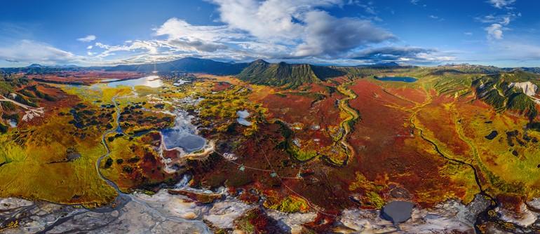 Uzon caldera, Kamchatka, Russia. Part I - AirPano.com • 360° Aerial Panoramas • 360° Virtual Tours Around the World