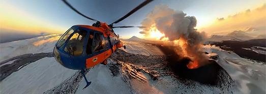 Plosky Tolbachik Volcano Eruption, Kamchatka, Russia - AirPano.com • 360° Aerial Panoramas • 360° Virtual Tours Around the World