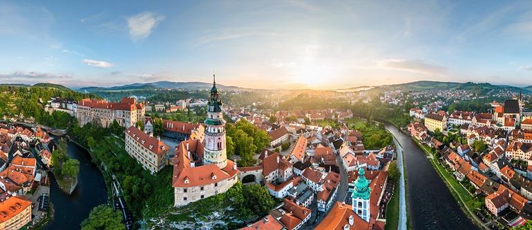 Cesky Krumlov, Czech Republic - AirPano.com • 360° Aerial Panoramas • 360° Virtual Tours Around the World