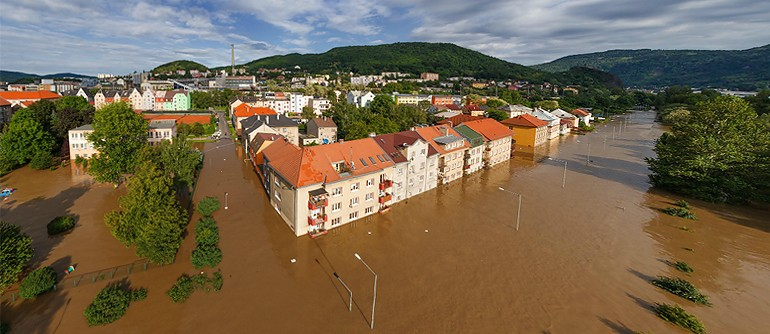 Flooding in Czech Republic, Usti nad Labem, 2013 - AirPano.com • 360° Aerial Panoramas • 360° Virtual Tours Around the World