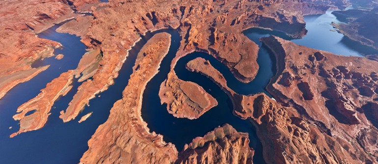 Lake Powell UtahArizona USA 360 Aerial Panoramas 360 Virtual