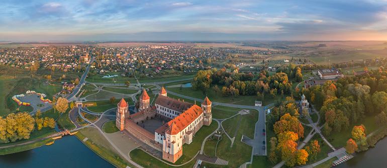 Mir Castle, Belarus - AirPano.com • 360° Aerial Panoramas • 360° Virtual Tours Around the World