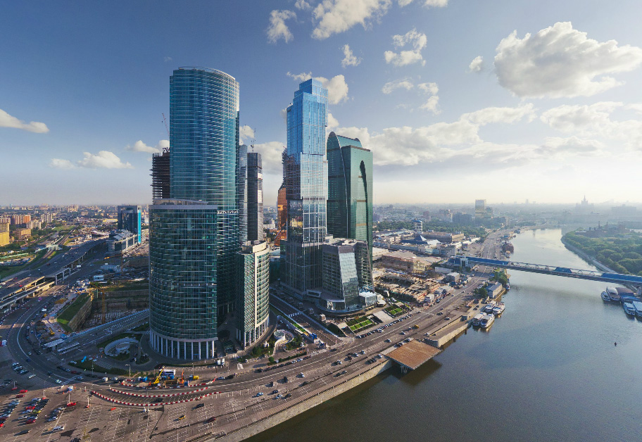 Moscow City View from the Highest Tower In Europe