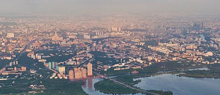Moscow from an altitude of 1000 meters - AirPano.com • 360° Aerial Panoramas • 360° Virtual Tours Around the World