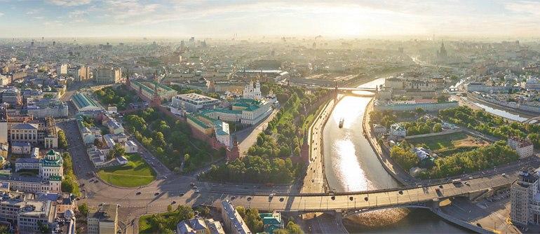 Moscow City Center, Kremlin - AirPano.com • 360° Aerial Panoramas • 360° Virtual Tours Around the World
