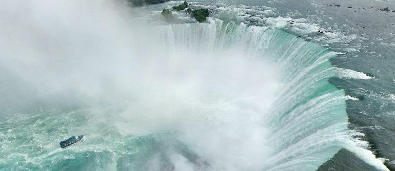 Niagara Falls CanadaUSA Aerial Panoramas Virtual - Us map showing location of niagara falls