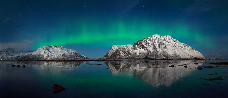 Northern lights in Norway - AirPano.com • 360° Aerial Panoramas • 360° Virtual Tours Around the World