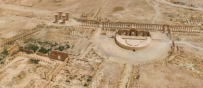 The past appearance of the Syrian Palmyra - AirPano.com • 360° Aerial Panoramas • 360° Virtual Tours Around the World