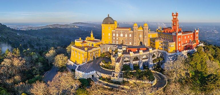 Pena National Palace, Sintra, Portugal - AirPano.com • 360° Aerial Panoramas • 360° Virtual Tours Around the World