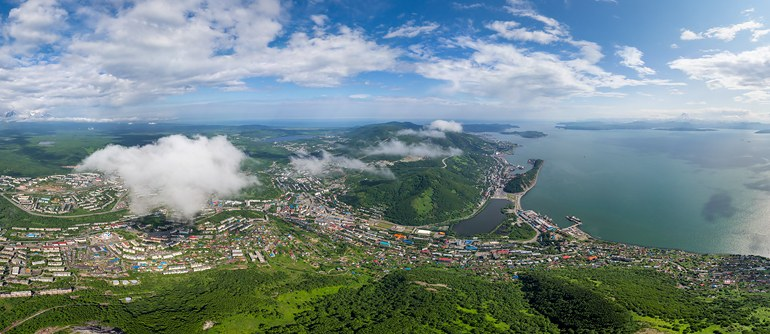 Petropavlovsk-Kamchatsky, Russia - AirPano.com • 360° Aerial Panoramas • 360° Virtual Tours Around the World